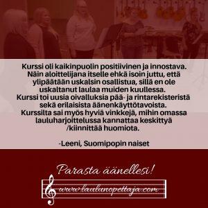 Laulunopetus, referenssi laulunopettaja, hyvä laulunopettaja